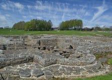 Vidolanda Roman Fort nära den Hadrians väggen Arkivbilder
