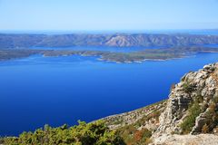 Vidova Gora, Croatia. Vidova Gora, the highest point on Brac Island in Croatia, provides an incredible vista Stock Photography