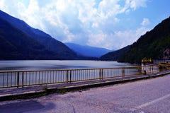 Vidra Lake. Lake Vidra and dam with the same name , Romania royalty free stock photos