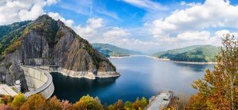 Vidraru水坝,罗马尼亚 免版税图库摄影