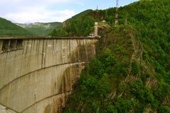 水坝Vidraru 免版税库存照片
