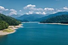 Vidraru mountain lake in Romania Royalty Free Stock Photos