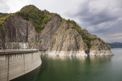 Vidraru Lake in Fagarasi Mountains, Romania Stock Photo
