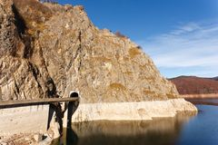 Vidraru Lake in Romania royalty free stock image