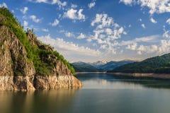 Vidraru lake, Romania. Dam Vidraru Lake in Fagaras Mountains, Romania royalty free stock photos