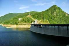 Vidraru water dam and lake in Romania. Vidraru dam in the romanian mountains Stock Image