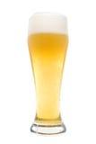 Vidrio aislado de cerveza Foto de archivo
