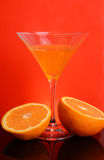 Vidrio anaranjado Imágenes de archivo libres de regalías