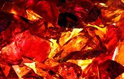 Vidrio anaranjado del fuego Fotografía de archivo