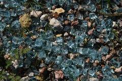 Vidrio azul Imágenes de archivo libres de regalías