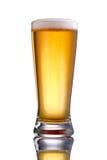 Vidrio claro de cerveza fotografía de archivo libre de regalías