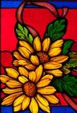 Vidrio colorido colorido en la iglesia. foto de archivo libre de regalías