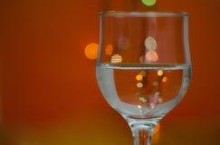 Vidrio con agua Foto de archivo