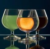 Vidrio con alcohol fotografía de archivo libre de regalías