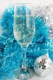 Vidrio con champán Fotografía de archivo libre de regalías