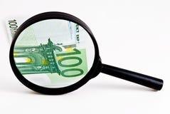 Vidrio con el dinero Imagen de archivo