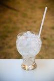 Vidrio con el hielo para beber Imagen de archivo libre de regalías