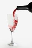 Vidrio con el vino Fotos de archivo