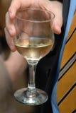 Vidrio con el vino. Imagen de archivo libre de regalías