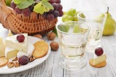 Vidrio con el vino Imágenes de archivo libres de regalías