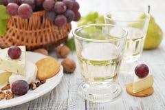 Vidrio con el vino Fotografía de archivo libre de regalías