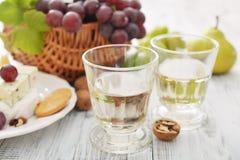 Vidrio con el vino Foto de archivo