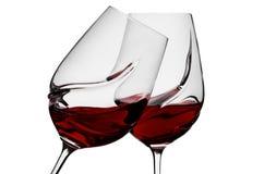 Vidrio con el vino fotografía de archivo