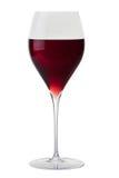 Vidrio con el vino rojo Fotografía de archivo