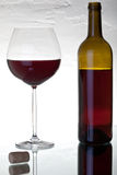 Vidrio con el vino rojo Imagen de archivo libre de regalías