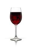 Vidrio con el vino rojo Imagenes de archivo