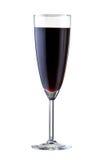 Vidrio con el vino rojo, aislado en blanco. Imagen de archivo libre de regalías