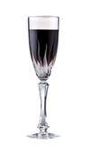 Vidrio con el vino rojo, aislado en blanco. Imagenes de archivo