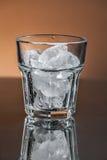 Vidrio con hielo Fotografía de archivo