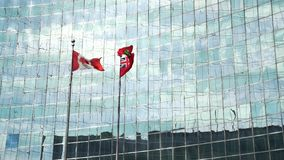 Vidrio con las banderas almacen de video