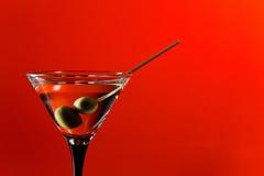 Vidrio con martini Fotos de archivo