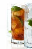 Vidrio con té del limón Imágenes de archivo libres de regalías