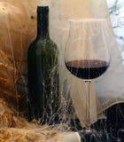 Vidrio con un vino foto de archivo