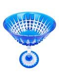 Vidrio cristalino azul cuatro Fotografía de archivo