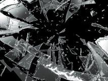 Vidrio dañado o roto sobre negro ilustración del vector