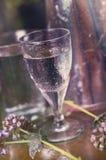 Vidrio de agua Foto de archivo libre de regalías