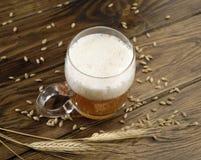 Vidrio de alta cerveza de las opiniones Imagen de archivo