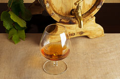 Vidrio de brandy imagen de archivo libre de regalías