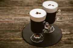 Vidrio de café irlandés foto de archivo