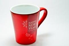 Vidrio de cerámica de rojo Fotografía de archivo libre de regalías