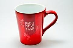 Vidrio de cerámica de rojo Imágenes de archivo libres de regalías