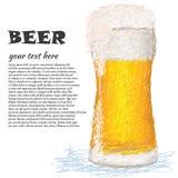 Vidrio-de-cerveza Fotos de archivo libres de regalías