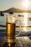 Vidrio de cerveza Fotos de archivo libres de regalías