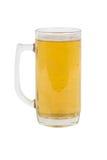 Vidrio de cerveza aislado en blanco Imágenes de archivo libres de regalías