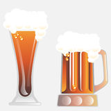 Vidrio de cerveza del vector Foto de archivo libre de regalías