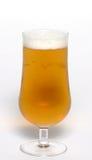 Vidrio de cerveza dorada Foto de archivo libre de regalías